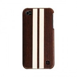 coque en cuir trexta snap on wood series modele WENGE