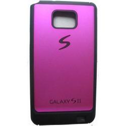 Coque étui arrière rose fuchsia Samsung Galaxy S2 i9100