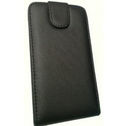 Housse noir cuir intégral pour HTC sensation XL (rabat)