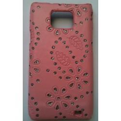 Coque strass diamant pour Samsung Galaxy S2 couleur rose
