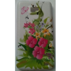 Coque Semi rigide TPU motif fleur Samsung Galaxy S2