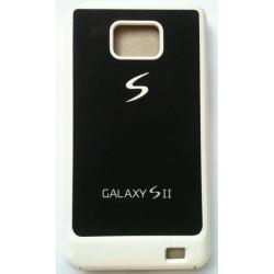 Coque blanche et noir pour Samsung Galaxy S2