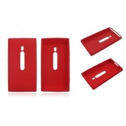 Coque silicone rouge Nokia Lumia 800