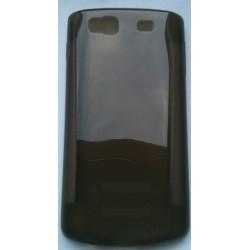 Coque noir fumé silicone pour Samsung Wave 3