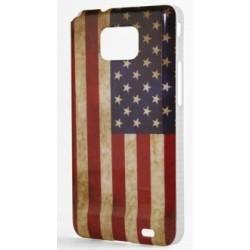 Coque rigide vintage drapeau américain Galaxy S2, états unis USA