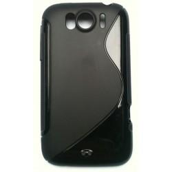 Coque silicone noir pour HTC Sensation XL