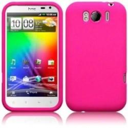 Coque silicone couleur rose pour HTC Sensation XL