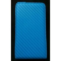 Housse/étui Carbone Galaxy S2 couleur turquoise