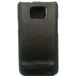 Housse ou étui carbone noir pour Galaxy S2 i9100