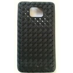 Coque Galaxy S2 bandes entrelacées - couleur noir