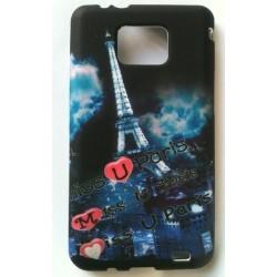 Coque souvenir Paris Tour Eiffel en silicone pour Samsung Galaxy S2 i9100