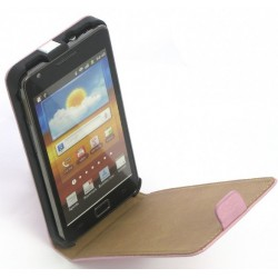 Housse cuir rose pour Samsung Galaxy S2