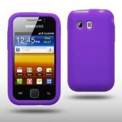 Coque en silicone violet pour Samsung Galaxy Y