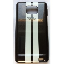 Coque mini cooper RACING noir pour Samsung Galaxy S2 I9100