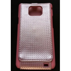 Housse carbone rose pour Samsung Galaxy S2 i9100