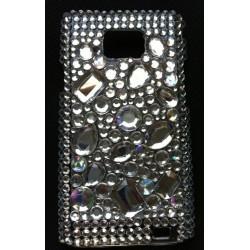 Coque avec diamants en relief pour Galaxy S2 i9100