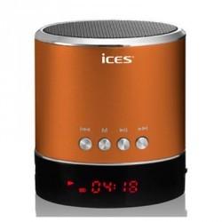 Mini Enceinte SD/USB/Jack Lenco couleur orange - compatible toute marque