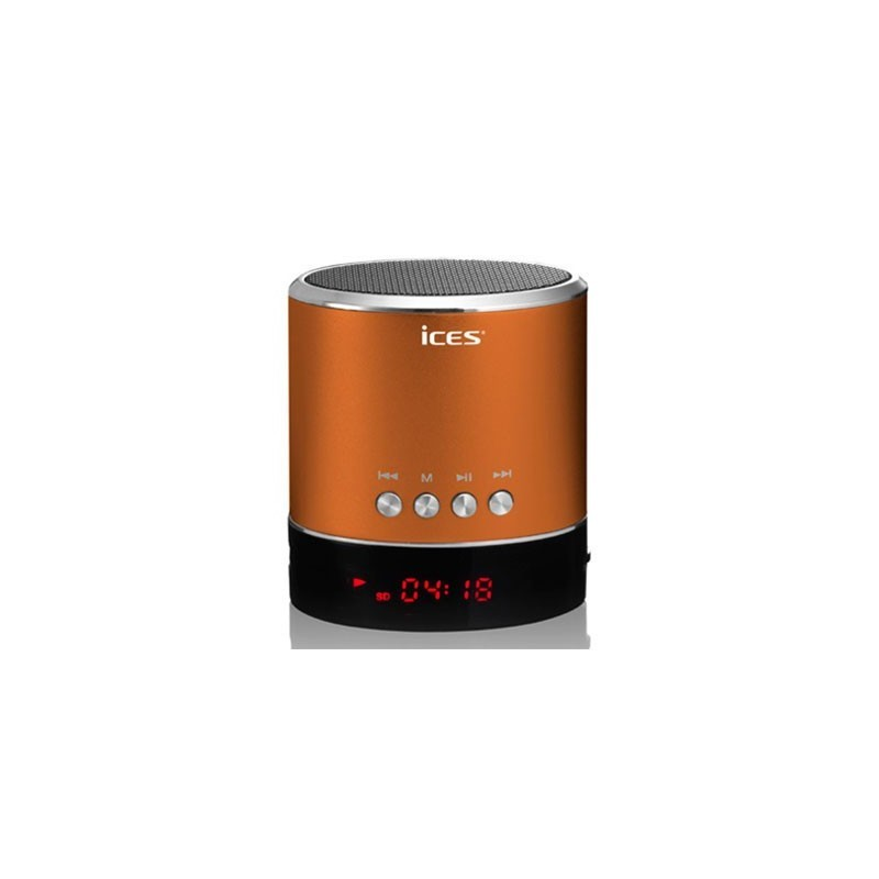 mini enceinte sd usb jack lenco couleur orange compatible toute marque. Black Bedroom Furniture Sets. Home Design Ideas