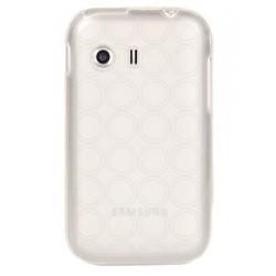 Silicone semi rigide transparente avec motif rond pour Samsung Galaxy Y