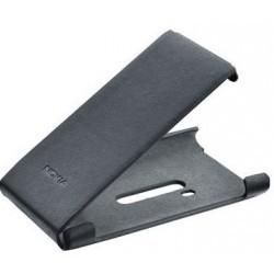 Etui cuir noir origine Nokia Lumia 800