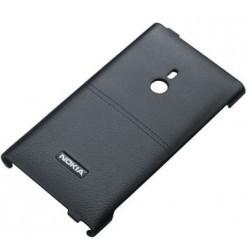 Coque arrière en cuir de luxe pour Nokia Lumia 800