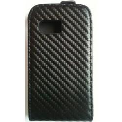 Etui style carbone noir pour Samsung Galaxy Y S5360