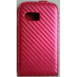 Housse rose Fuchsia style carbone pour Samsung Galaxy Y