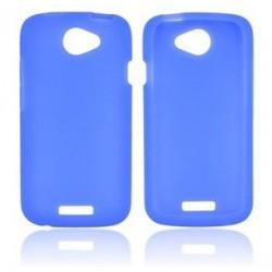 Etui silicone bleu HTC One S
