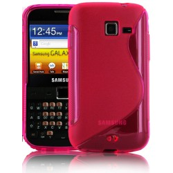 Coque silicone rose Galaxy Y Pro B5510