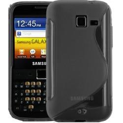 Coque blanche transparente silicone Samsung Galaxy Y Pro B5510