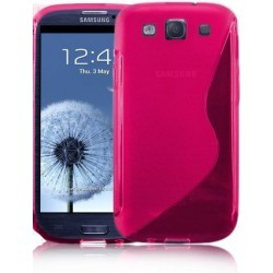 Coque silicone rose pour Samsung Galaxy S3