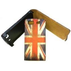 Etui vintage drapeau Angleterre pour le Samsung Wave 3
