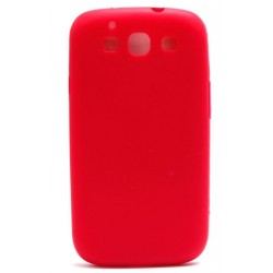Coque rouge silicone pour Samsung Galaxy S3 i9300