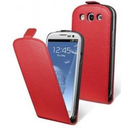 Etui cuir couleur rouge Moxie pour Samsung Galaxy S3