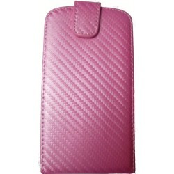 Housse rose style carbone Samsung Galaxy S3 i9300