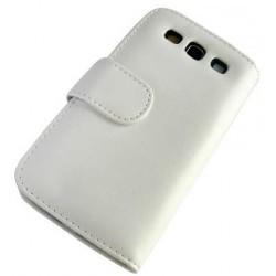 Etui blanc portefeuille Samsung Galaxy S3 - housse blanche