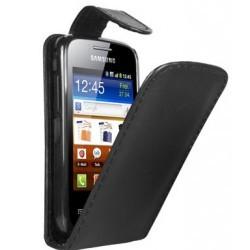 Housse à rabat de couleur noir pour le Samsung Galaxy Mini 2 S6500