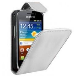 Housse blanche Samsung Galaxy Mini 2 S6500 - Etui blanc