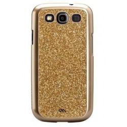 Coque série Glam Case Mate Paillettes Or pour Samsung Galaxy S3