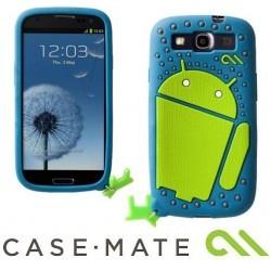 Coque protection Case Mate Samsung Galaxy S3 Droid Bleu/Vert
