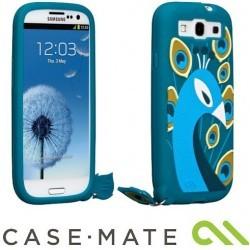 """Coque Paon collection """"créatures"""" de marque Case Mate pour Samsung Galaxy S3 (Bleu Turquoise)"""
