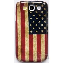 Coque de protection (étui) drapeau Etats-unis d'Amérique pour Samsung Galaxy S3 (style vintage)
