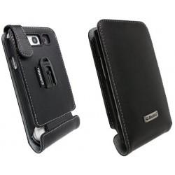 Housse Orbit flex Krussell Cuir Noir Samsung Galaxy S3 (clip ceinture)