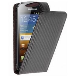 Etui style carbone Samsung Galaxy Ace 2