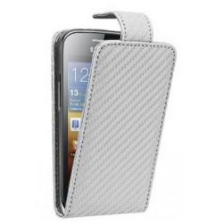 Etui blanc style carbone pour le Samsung Galaxy Ace 2