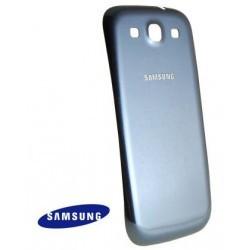 Cache arrière batterie origine Samsung Galaxy S3 couleur bleu