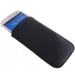 Etui vertical cuir origine bleu pour Samsung Galaxy S3