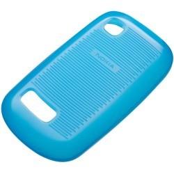 Coque silicone origine Nokia Asha 200 couleur bleu