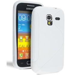 Coque silicone blanche Samsung Galaxy Ace 2 i8160