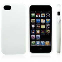 Coque protection blanche iPhone 5 en silicone